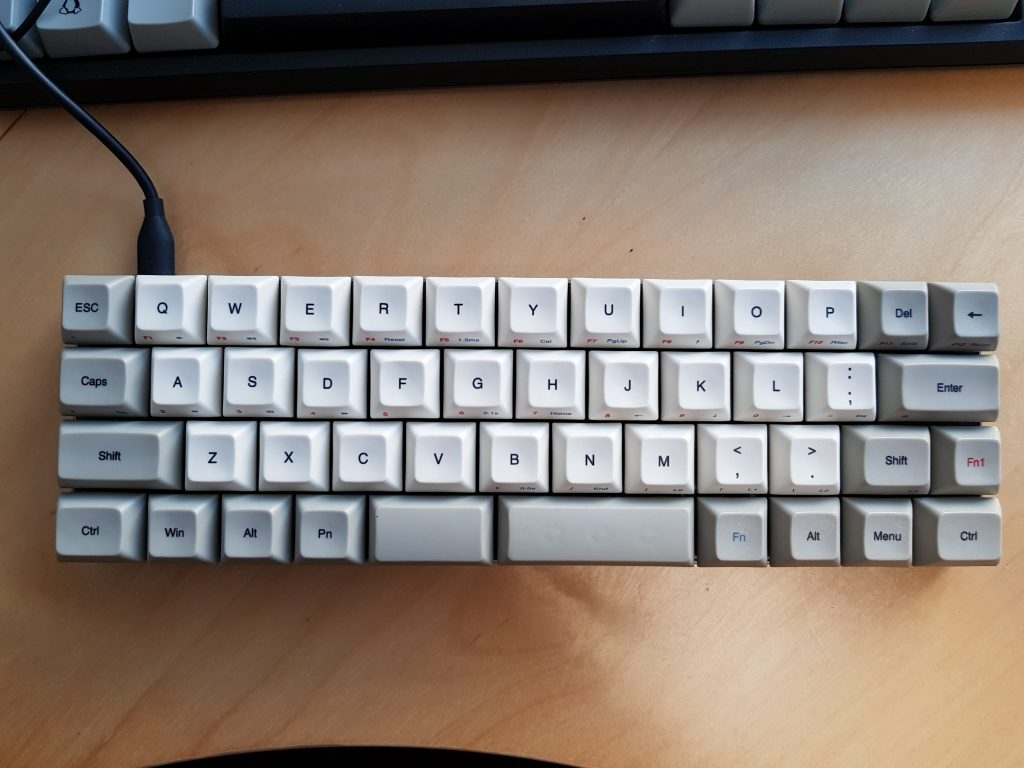 The vortex Core is a great 40% intro keyboard. Great build quality and nice design.