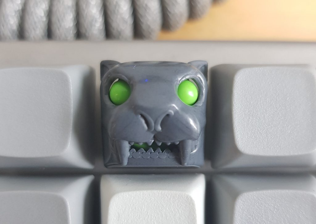 The Thabertooth artisan key in gray