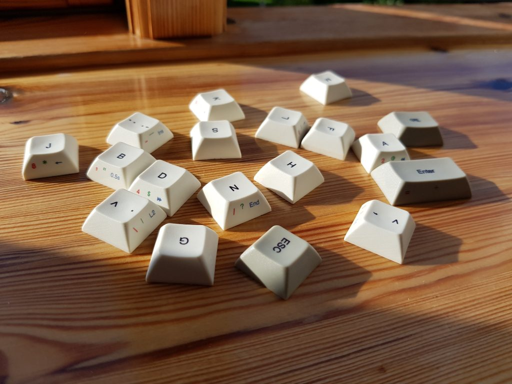 The Vortex Core replacement keycaps